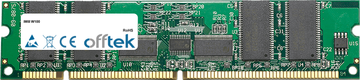 W100 128MB Módulo - 168 Pin 3.3v PC133 ECC Registered SDRAM Dimm