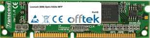 Optra X820e MFP 128MB Módulo - 100 Pin 3.3v SDRAM PC100 SoDimm