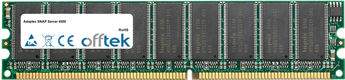 SNAP Server 4500 1GB Módulo - 184 Pin 2.6v DDR400 ECC Dimm (Dual Rank)
