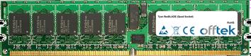 FlexBLADE (Quad Socket) 8GB Kit (2x4GB Módulos) - 240 Pin 1.8v DDR2 PC2-5300 ECC Registered Dimm (Dual Rank)