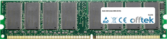 AS8 (Intel I865-ICH5) 1GB Módulo - 184 Pin 2.6v DDR400 Non-ECC Dimm