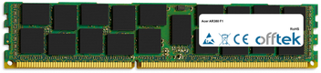 AR380 F1 16GB Módulo - 240 Pin 1.5v DDR3 PC3-8500 ECC Registered Dimm (Quad Rank)