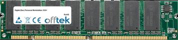 Personal Workstation 333i+ 128MB Módulo - 168 Pin 3.3v PC100 SDRAM Dimm