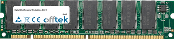 Personal Workstation 333i+2 128MB Módulo - 168 Pin 3.3v PC100 SDRAM Dimm