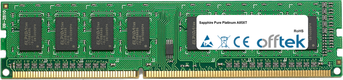 Pure Platinum A85XT 8GB Módulo - 240 Pin 1.5v DDR3 PC3-10600 Non-ECC Dimm