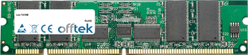 7410M 1GB Módulo - 168 Pin 3.3v PC133 ECC Registered SDRAM Dimm