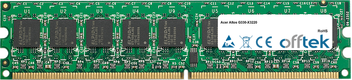 Altos G330-X3220 2GB Módulo - 240 Pin 1.8v DDR2 PC2-5300 ECC Dimm (Dual Rank)