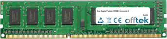 Aspire Predator G7200 Commander II 2GB Módulo - 240 Pin 1.5v DDR3 PC3-8500 Non-ECC Dimm