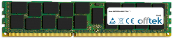 AW2000ht-AW170ht F1 8GB Módulo - 240 Pin 1.5v DDR3 PC3-10664 ECC Registered Dimm (Dual Rank)