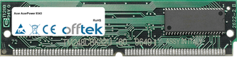 AcerPower 9343 64MB Kit (2x32MB Módulos) - 72 Pin 5v EDO Non-Parity Simm