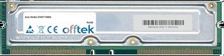 Veriton 9100-T1400A 512MB Kit (2x256MB Módulos) - 184 Pin 2.5v 800Mhz ECC RDRAM Rimm