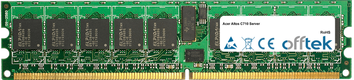 Altos C710 Server 4GB Kit (2x2GB Módulos) - 240 Pin 1.8v DDR2 PC2-3200 ECC Registered Dimm (Single Rank)