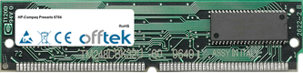Presario 6704 16MB Kit (2x8MB Módulos) - 72 Pin 5v EDO Non-Parity Simm