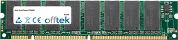 AcerPower 5536NB 128MB Módulo - 168 Pin 3.3v PC100 SDRAM Dimm