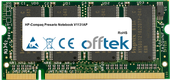 Presario Notebook V1131AP 1GB Módulo - 200 Pin 2.5v DDR PC333 SoDimm