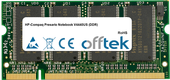 Presario Notebook V4440US (DDR) 1GB Módulo - 200 Pin 2.5v DDR PC333 SoDimm
