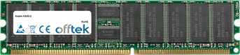 AX4S-U 1GB Módulo - 184 Pin 2.5v DDR266 ECC Registered Dimm (Single Rank)
