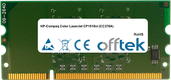 Color LaserJet CP1518ni (CC378A) 256MB Módulo - 144 Pin 1.8v DDR2 PC2-3200 SoDimm