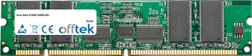 Altos 9100B F645RJ/RL 256MB Módulo - 168 Pin 3.3v PC100 ECC Registered SDRAM Dimm