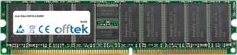 Altos G301S-U-N2820 1GB Módulo - 184 Pin 2.5v DDR266 ECC Registered Dimm (Single Rank)