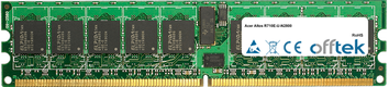 Altos R710E-U-N2800 4GB Módulo - 240 Pin 1.8v DDR2 PC2-4200 ECC Registered Dimm (Dual Rank)