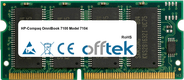 OmniBook 7100 Model 7104 128MB Módulo - 144 Pin 3.3v PC66 SDRAM SoDimm