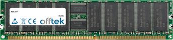 AT7 512MB Módulo - 184 Pin 2.5v DDR333 ECC Registered Dimm (Single Rank)