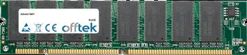 3401 256MB Módulo - 168 Pin 3.3v PC100 SDRAM Dimm