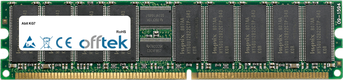 KG7 1GB Módulo - 184 Pin 2.5v DDR266 ECC Registered Dimm (Dual Rank)
