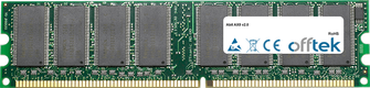 AX8 V2.0 1GB Módulo - 184 Pin 2.6v DDR400 Non-ECC Dimm
