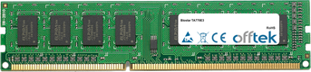TA770E3 4GB Módulo - 240 Pin 1.5v DDR3 PC3-10664 Non-ECC Dimm