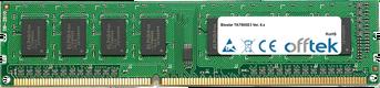 TA790XE3 Ver. 6.x 4GB Módulo - 240 Pin 1.5v DDR3 PC3-10664 Non-ECC Dimm