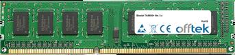 TA880G+ Ver. 5.x 4GB Módulo - 240 Pin 1.5v DDR3 PC3-10664 Non-ECC Dimm