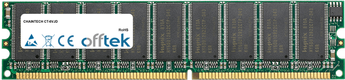 CT-6VJD 1GB Módulo - 184 Pin 2.6v DDR400 ECC Dimm (Dual Rank)