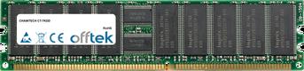 CT-7KDD 1GB Módulo - 184 Pin 2.5v DDR333 ECC Registered Dimm (Dual Rank)