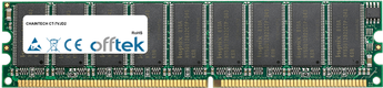 CT-7VJD2 1GB Módulo - 184 Pin 2.6v DDR400 ECC Dimm (Dual Rank)