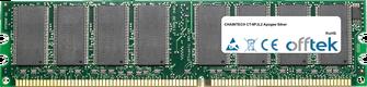 CT-9PJL2 Apogee Silver 1GB Módulo - 184 Pin 2.6v DDR400 Non-ECC Dimm