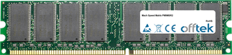 Matrix PM9MSR2 1GB Módulo - 184 Pin 2.6v DDR400 Non-ECC Dimm
