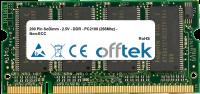 200 Pin SoDimm - 2.5V - DDR - PC2100 (266Mhz) - Non-ECC 256MB Módulo