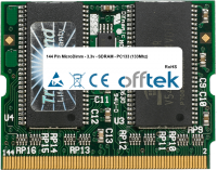 144 Pin MicroDimm - 3.3v - SDRAM - PC133 (133Mhz) 256MB Módulo