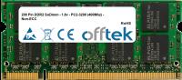 200 Pin DDR2 SoDimm - 1.8v - PC2-3200 (400Mhz) - Non-ECC 1GB Módulo