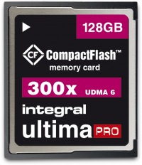Integral Ultima-Pro Compact Flash 300X 128GB Tarjeta