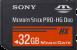 Sony Memory Stick PRO-HG Duo HX 32GB Stick