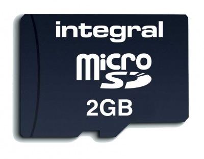 Integral Transflash/Micro SD Tarjeta (con Adaptador) 2GB Tarjeta