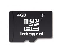 Integral Micro SDHC (Sin Adaptador) 4GB Tarjeta (Class 4)