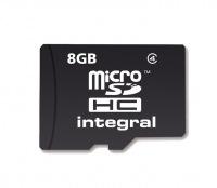 Integral Micro SDHC (Sin Adaptador) 8GB Tarjeta (Class 4)