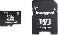 Integral Micro SDHC (con Adaptador) 4GB Tarjeta (Class 10)