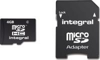 Integral Micro SDHC (con Adaptador) 4GB Tarjeta (Class 4)
