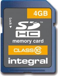 Integral SDHC Tarjeta (Class 10) 4GB Tarjeta (Class 10)