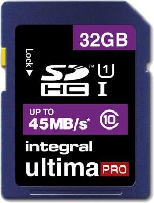 Integral SDHC 32GB Tarjeta (Class 10 - 45MB/s)